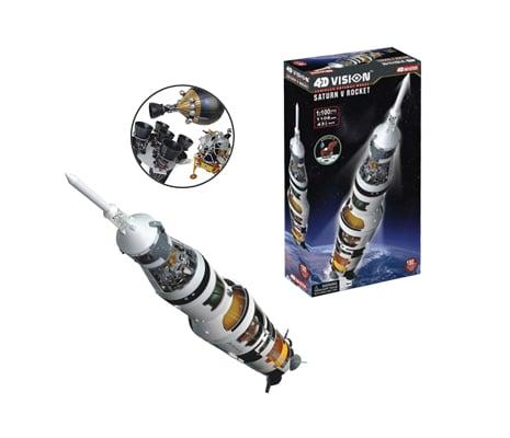 4D Vision โมเดลยาน Saturn V Rocket
