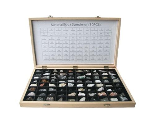 ตัวอย่างหิน-แร่ 80 ชนิด