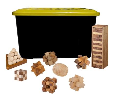 รวมของเล่นไม้ฝึกสมอง 25 แบบ/กล่อง