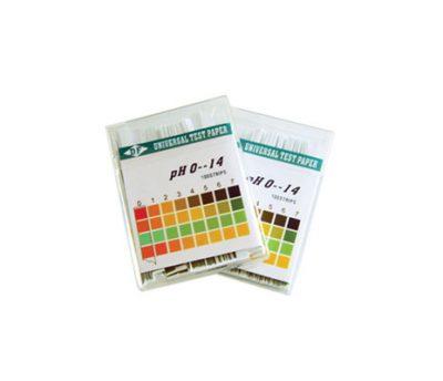 กระดาษ pH 1-14 แบบละเอียด (100 แถบ)
