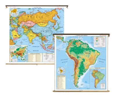 [กายภาพ] แผนที่ ทวีปอเมริกาใต้ (100x130 ซม.)