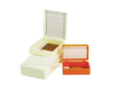 กล่องพลาสติกใส่สไลด์ 12 แผ่น